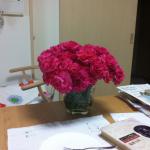マハラクシュミで使ったお花。 今年は、お願いごと 一つだけにしたよ。