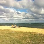 ホテルの前の海。 悩んでる時は、 大きな海や空を見よう! そして、瞑想して大きなクウにふれて、意識を拡大させましょう。